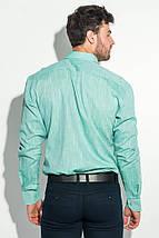 Рубашка мужская однотонная 50PD5011 (Оливковый), фото 2
