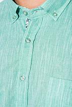 Рубашка мужская однотонная 50PD5011 (Оливковый), фото 3