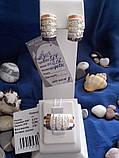 Срібний комплект Азія з золотом, фото 2