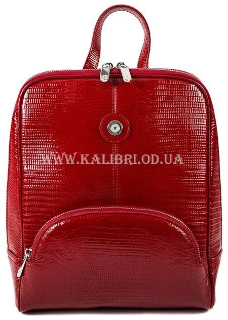 937b4314b230 Женский кожаный красный рюкзак под рептилию Karya 0782-074 - Kalibri Odessa  в Одессе