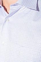 Рубашка мужская клетка 50PD88303 (Бело-сиреневый), фото 2