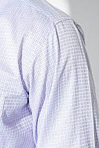 Рубашка мужская клетка 50PD88303 (Бело-сиреневый), фото 3