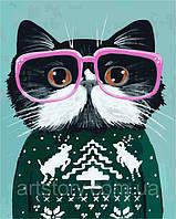Картина по номерам ArtStory Кот в очках 40 х 50 см (арт. AS0267), фото 1