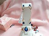 Серебряный комплект с золотыми пластинами Долли2, фото 2