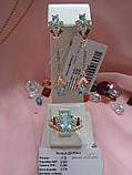 Серебряный комплект с золотыми пластинами Долли2, фото 10