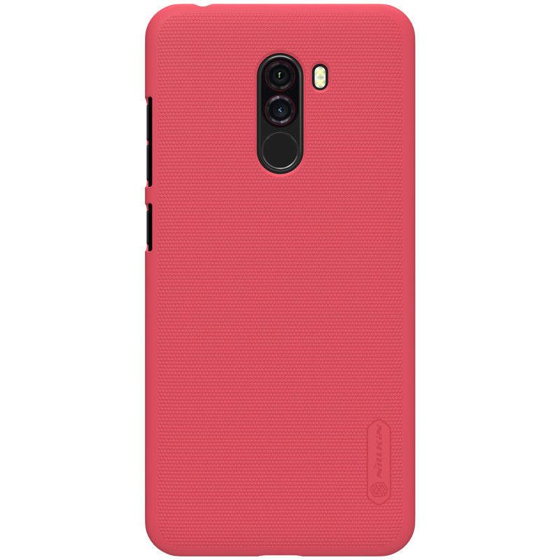 Nillkin Xiaomi Pocophone F1 Super Frosted Shield Red Чехол Накладка Бампер