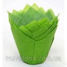 Зеленые бумажные формы для маффинов, кексов