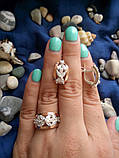Серебряный набор Герда с золотом и камнями, фото 2