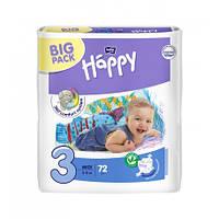 Подгузники Bella Baby HAPPY Midi (3) 5-9 кг, 72 шт