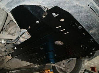 Защита картера (двигателя) и Коробки передач на Фольксваген Т5 (Volkswagen T5) 2003-2015 г (металлическая/с боковыми крыльями)