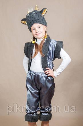 Костюм Овечка 4,5,6,7 лет Детский новогодний Барашек Чертик для мальчиков девочек Серый 342, фото 2