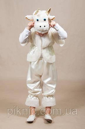 Детский карнавальный костюм Барашек, Овечка 4,5,6,7 лет. Маскарадный костюм для мальчиков и девочек. Белый, фото 2