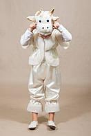 Детский карнавальный костюм Барашек, Овечка 4,5,6,7 лет. Маскарадный костюм для мальчиков и девочек. Белый