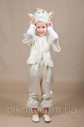 Костюм Овечка 4,5,6,7 лет. Детский новогодний костюм для мальчиков девочек Белый 342, фото 2