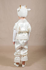 Детский костюм Барашек, Овечка 4,5,6,7 лет. Новогодний карнавальный для мальчиков и девочек. Белый, фото 2