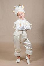Детский костюм Барашек, Овечка 4,5,6,7 лет. Новогодний карнавальный для мальчиков и девочек. Белый, фото 3