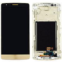 Дисплей для LG X190 Ray Dual Sim с тачскрином и рамкой золотистый Оригинал