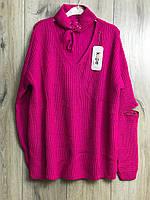 Женский вязаный свитер.( Длина- 68 см). S- L Размер., фото 1