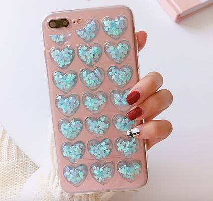 Чехол iphone 6 plus silicone cleat heart