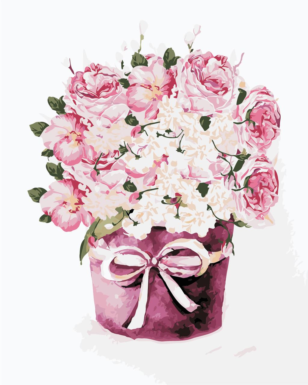 """Картина по номерам """"Букет чайных роз"""" 40*50см"""