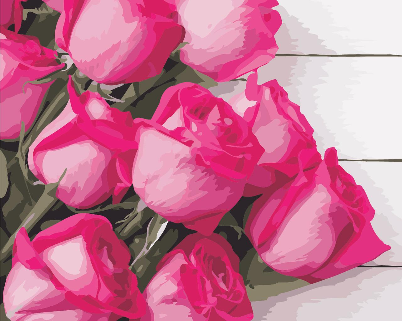 """Картина по номерам """"Благородные розы"""" 40*50см"""