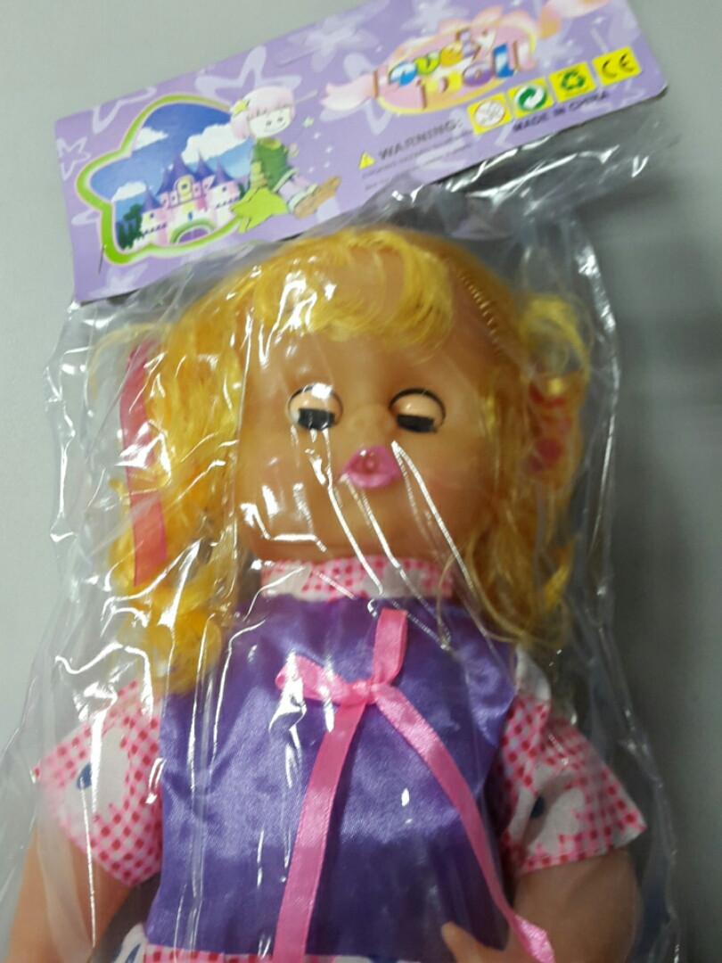Кукла с волосами