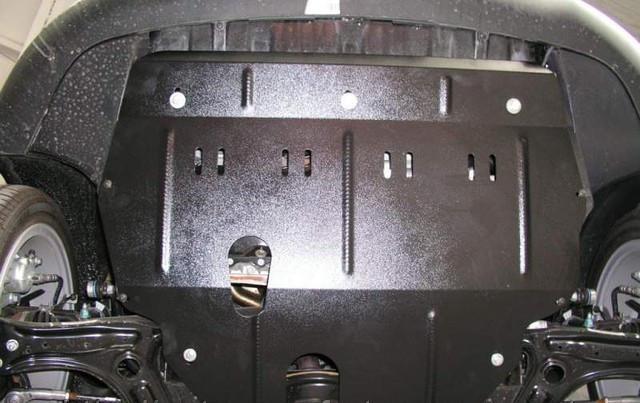Защита картера (двигателя) и Коробки передач на КИА Спортейдж 3 (KIA Sportage III) 2010-2015 г (металлическая/вместо пыльника) 2.5