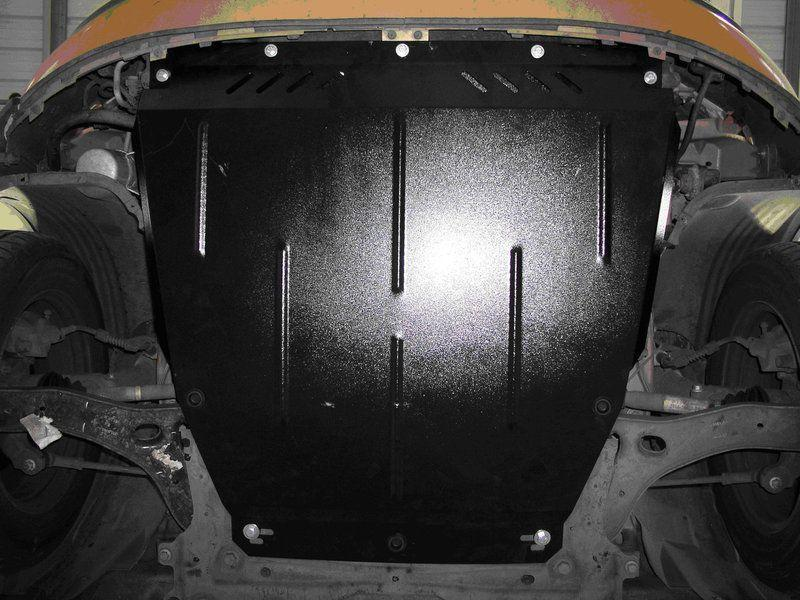 Защита картера (двигателя) и Коробки передач на КИА Спортейдж 3 (KIA Sportage III) 2010-2015 г (металлическая/сверху пыльника) 2.5