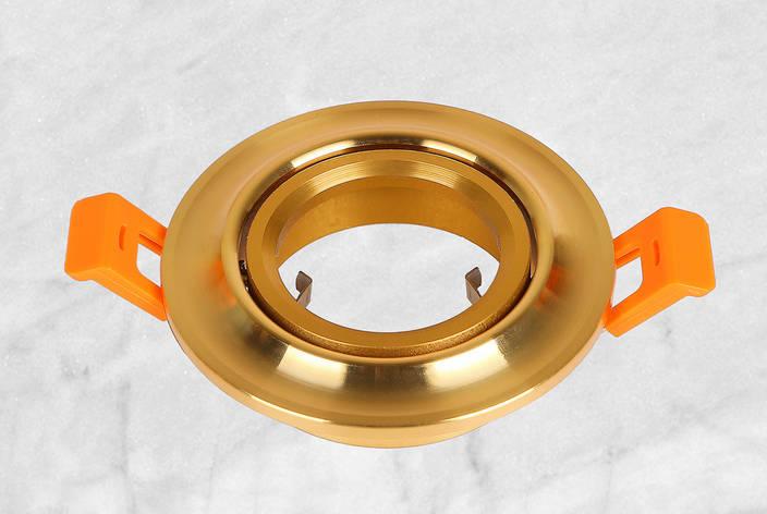 Точечный врезной светильник (47-2295 золото) , фото 2