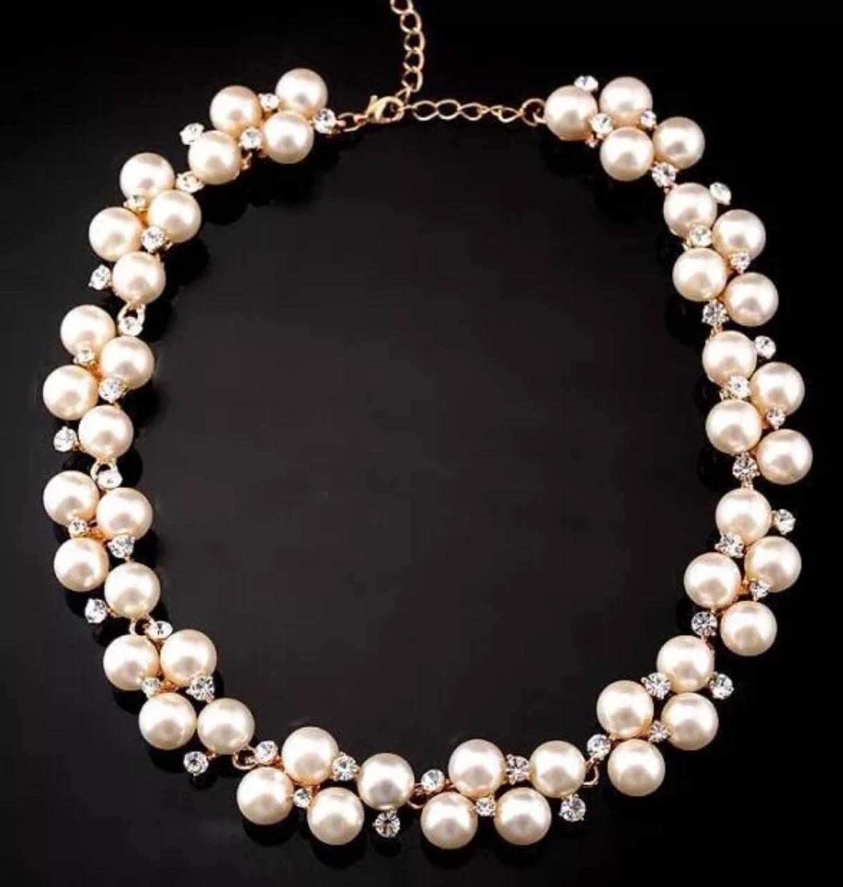 Ожерелье/бусы для девушек из бусин и камней «Romantic mood»