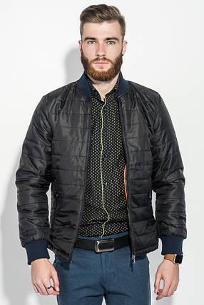 Куртка мужская демисезон 491F003 (Черно-терракотовый), фото 2
