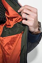Куртка мужская демисезон 491F003 (Черно-терракотовый), фото 3