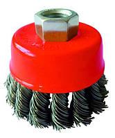 Щетка торцевая Werk  - 125 мм плетеная проволока (WE107225)