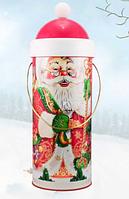 """Новогодняя упаковка для конфет и подарков """"Дед Мороз"""", 500 гр"""