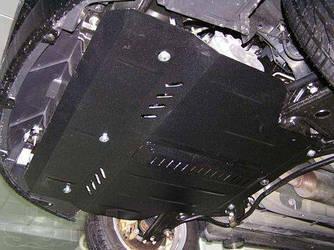 Защита картера (двигателя) и Коробки передач на Пежо 407 (Peugeot 407) 2004-2010 г (металлическая/вместо пыльника) 2.5