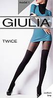 Колготки имитирующие чулки Giulia Twice 120 den