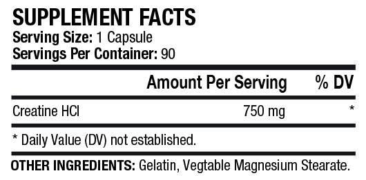 Креатин MST Nutrition Creatine HCL 90 caps, фото 2