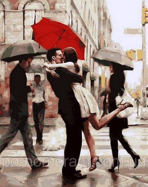 Поцелуй при встрече - картина по номерам