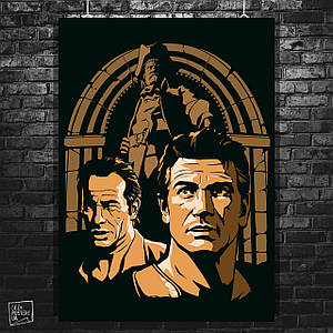 "Постер ""Uncharted"", рисунок. Нейтан «Нейт» Дрейк, Виктор «Салли» Салливан. Размер 60x42см (A2). Глянцевая бумага"