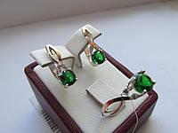 Серебряный набор с фианитом Флирт, фото 1