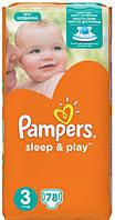 Подгузники Pampers Sleep & Play Midi 3 (4-9 кг), Джамбо 78шт