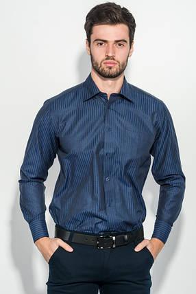 Рубашка мужская в полоску 50PD01854-12 (Темно-синий), фото 2