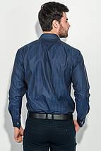 Рубашка мужская в полоску 50PD01854-12 (Темно-синий), фото 3
