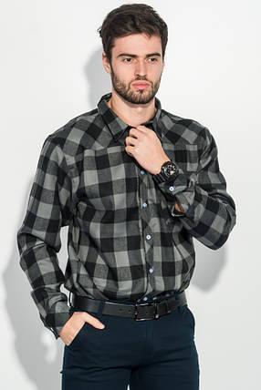 Рубашка мужская стиль casual 282V001 (Серо-черный), фото 2