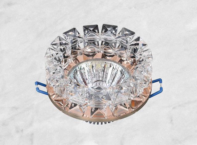 Точечный стеклянный врезной светильник (16-159), фото 2