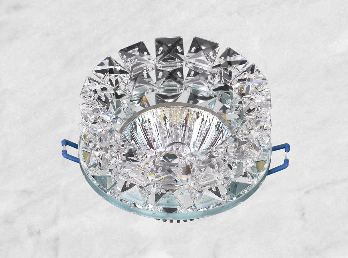 Точечный стеклянный врезной светильник (16-156)