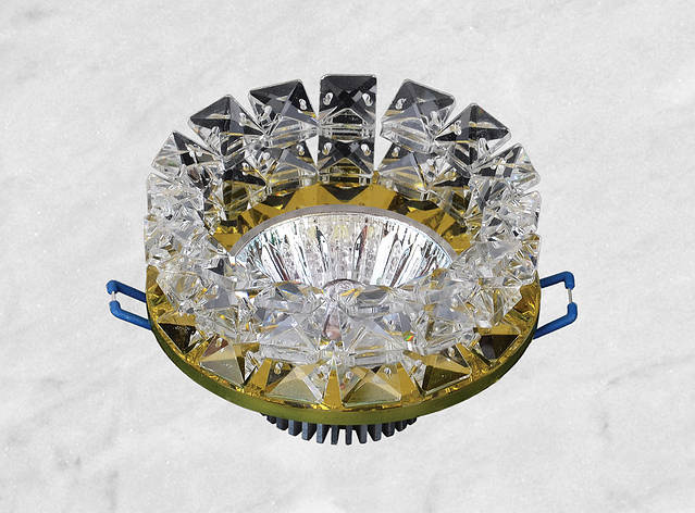 Точечный стеклянный врезной светильник (16-153), фото 2