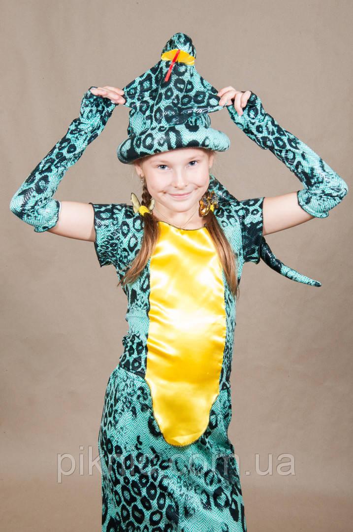Костюм Змея Кобра для девочки 5,6,7,8,9,10 лет. Детский карнавальный новогодний костюм Змейка