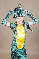 Костюм Змея Кобра для девочки 5,6,7,8 лет. Детский карнавальный новогодний костюм Змейка