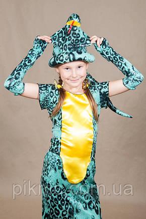 Костюм Змея Кобра для девочки 5,6,7,8,9,10 лет. Детский карнавальный новогодний костюм Змейка, фото 2